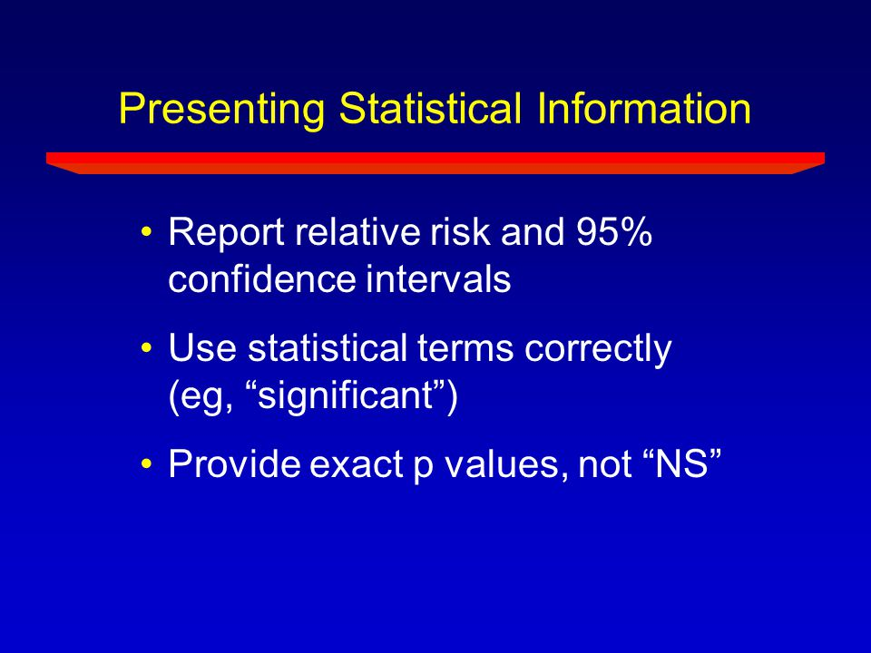 Presenting Statistical Information