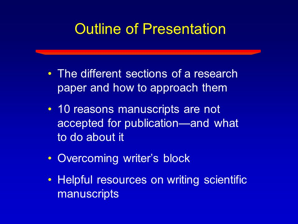 How to Write a Research Paper How To
