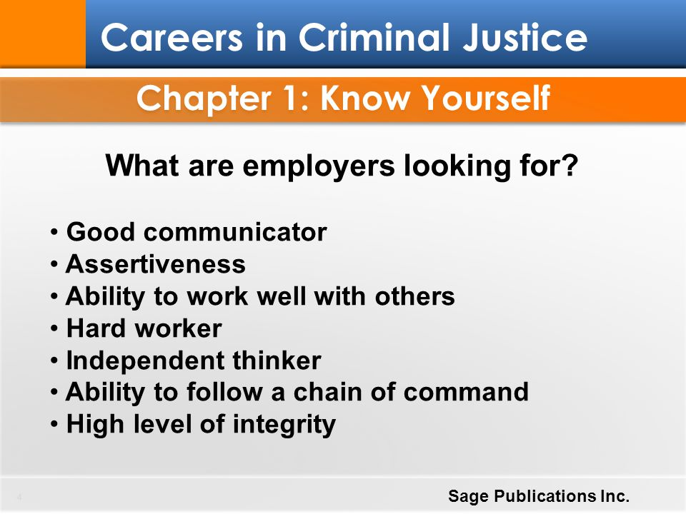 Chapter 1: Know Yourself What are employers looking for
