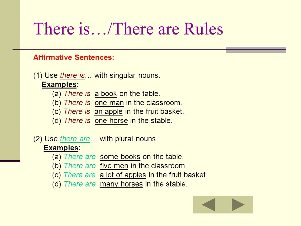 There is…/There are Rules