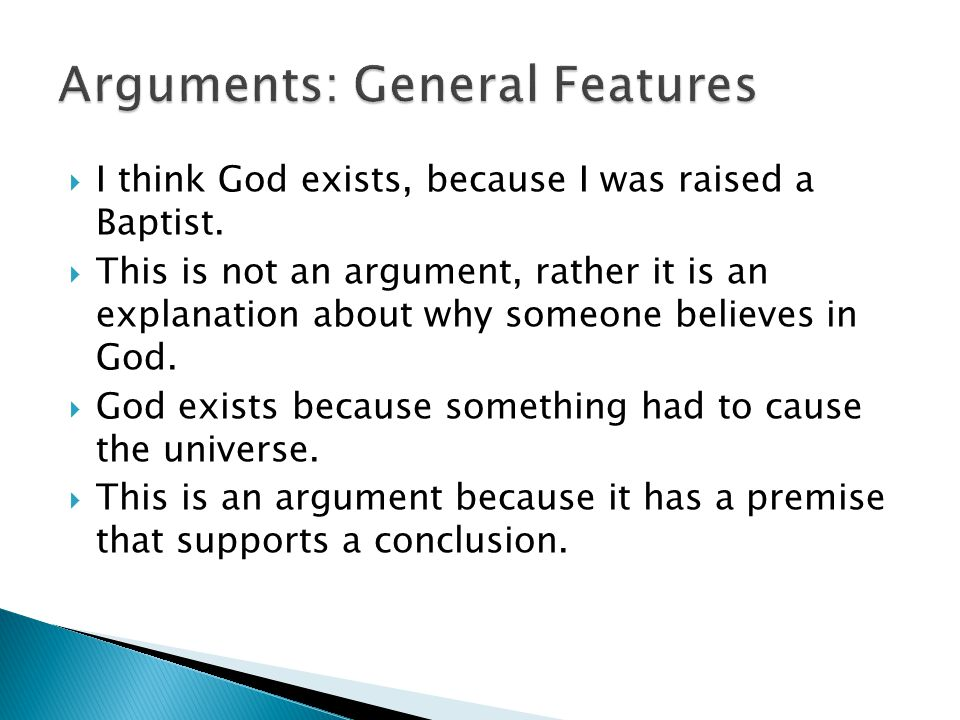 Arguments: General Features