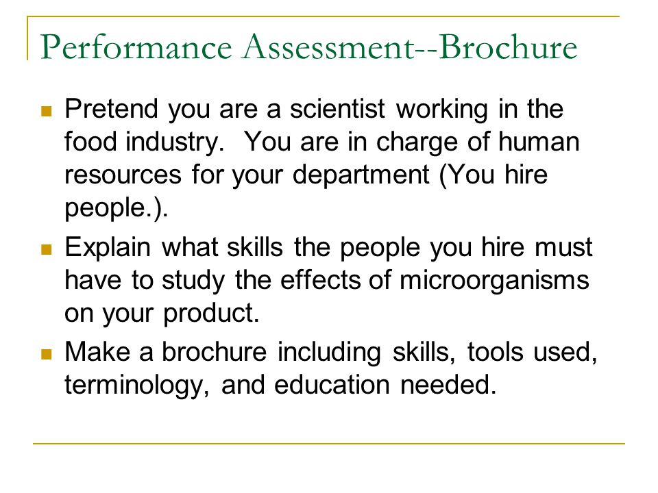 Performance Assessment--Brochure