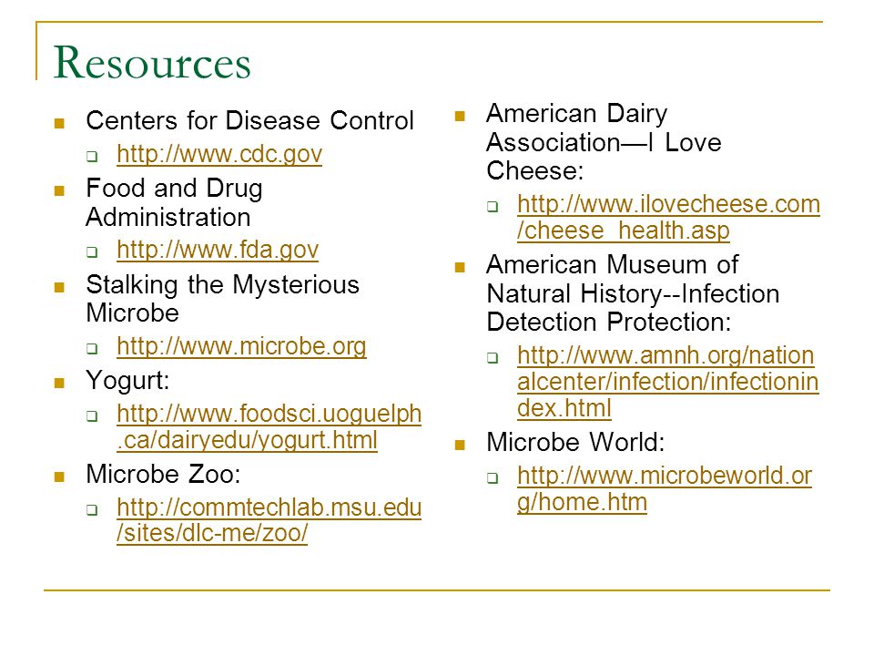 Resources American Dairy Association—I Love Cheese: