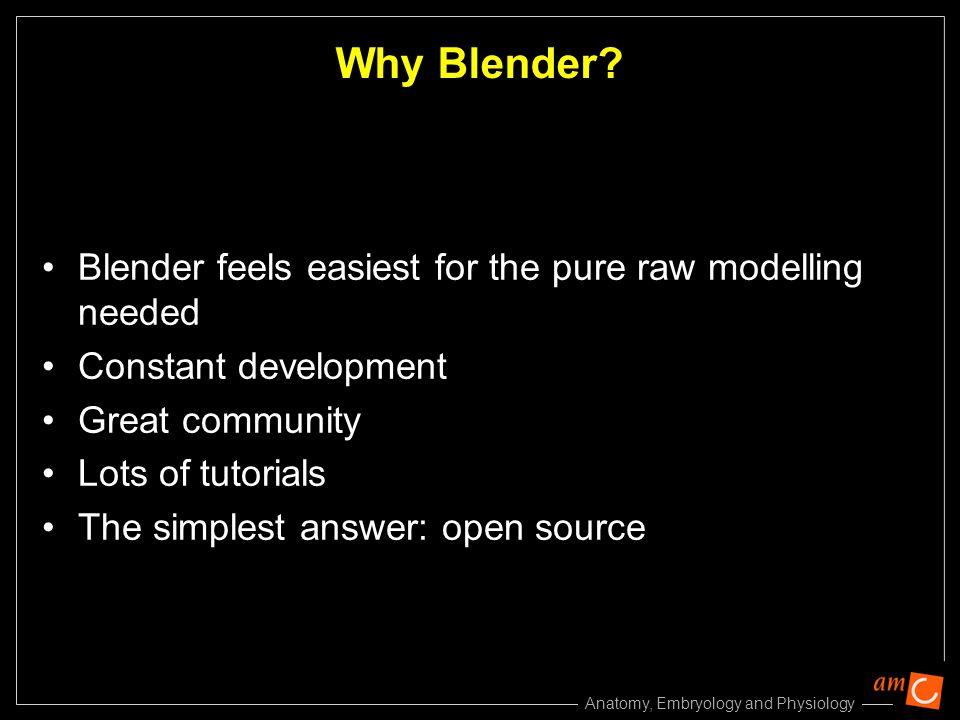 Why Blender Blender feels easiest for the pure raw modelling needed