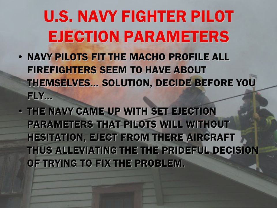 U.S. NAVY FIGHTER PILOT EJECTION PARAMETERS