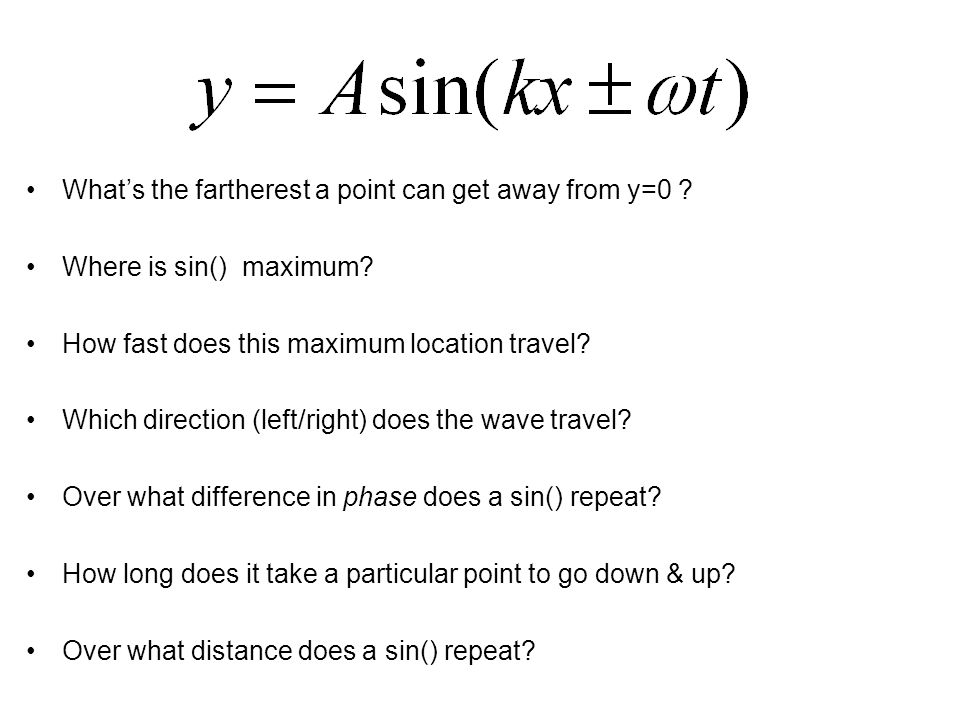 What's the fartherest a point can get away from y=0