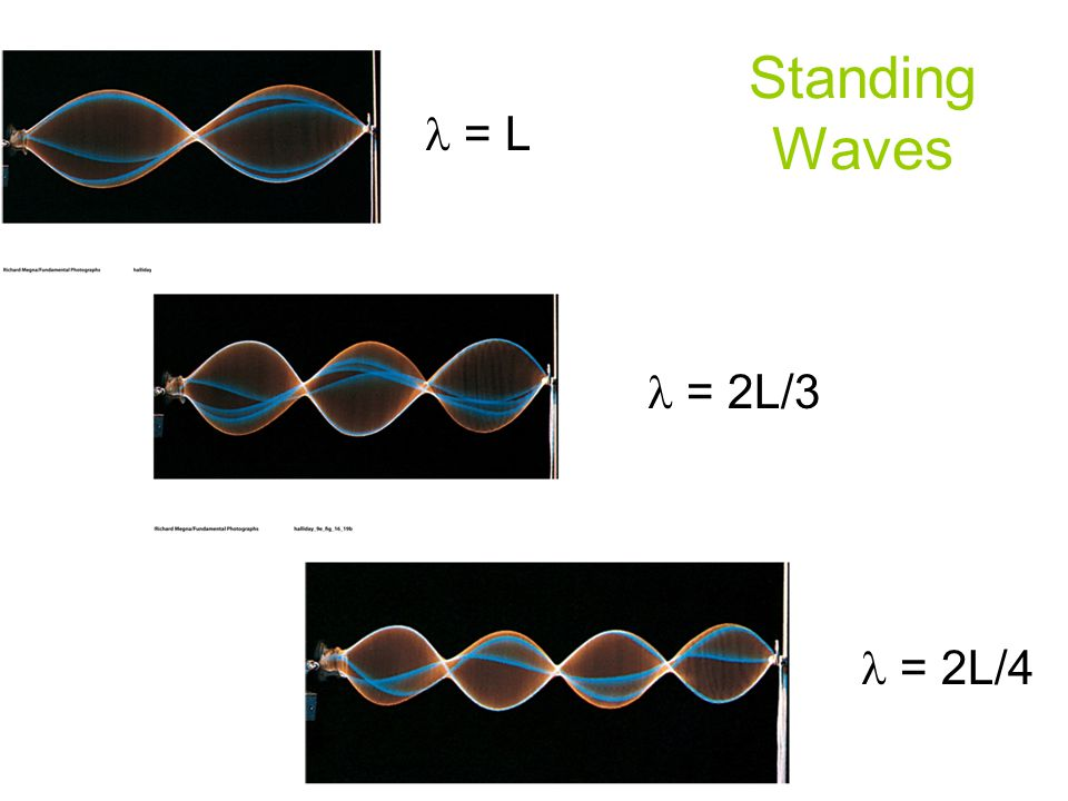 Standing Waves l = L l = 2L/3 l = 2L/4