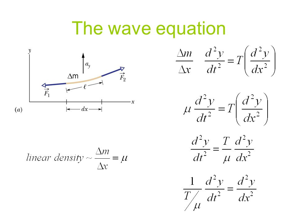 The wave equation Dm