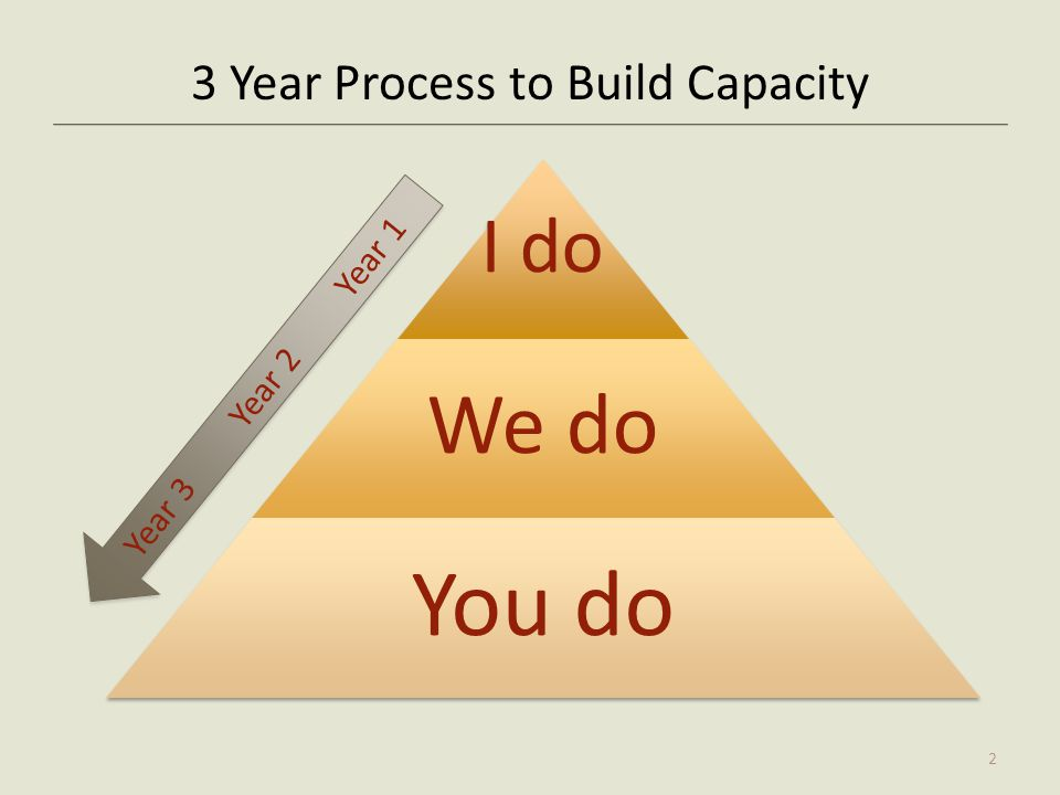3 Year Process to Build Capacity