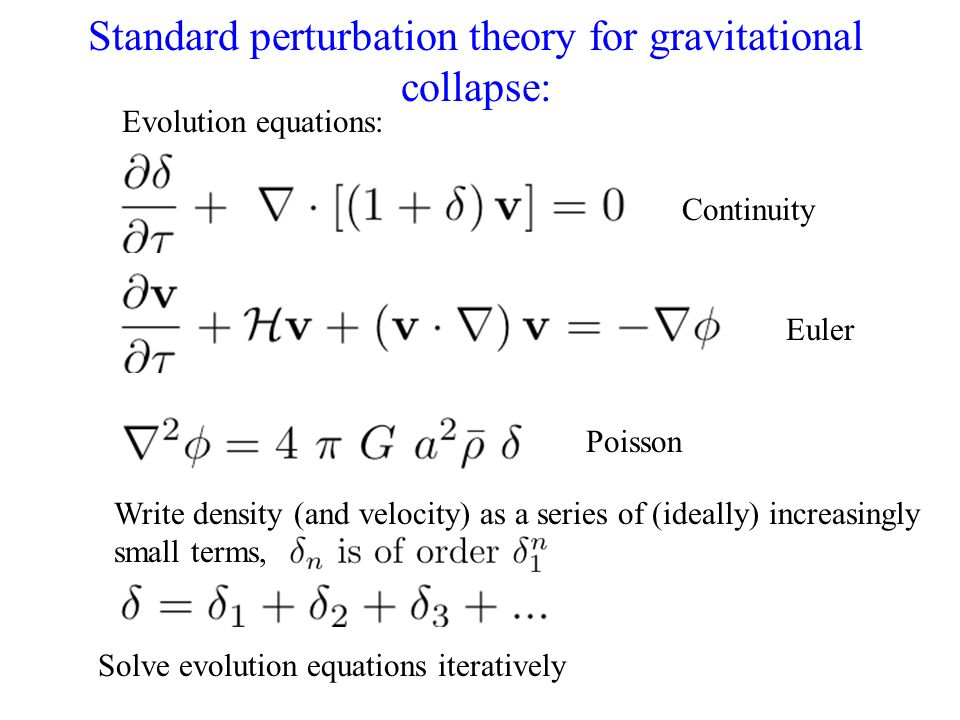 Standard perturbation theory for gravitational collapse: