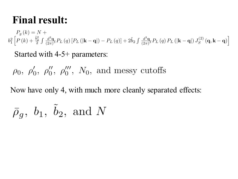 Final result: Started with 4-5+ parameters: