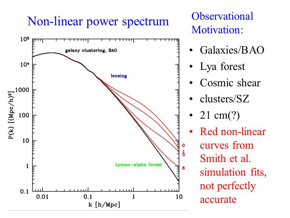 Non-linear power spectrum