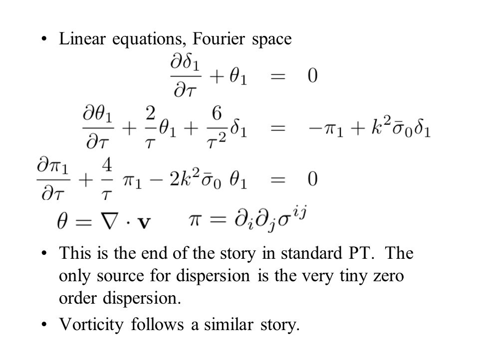 Linear equations, Fourier space