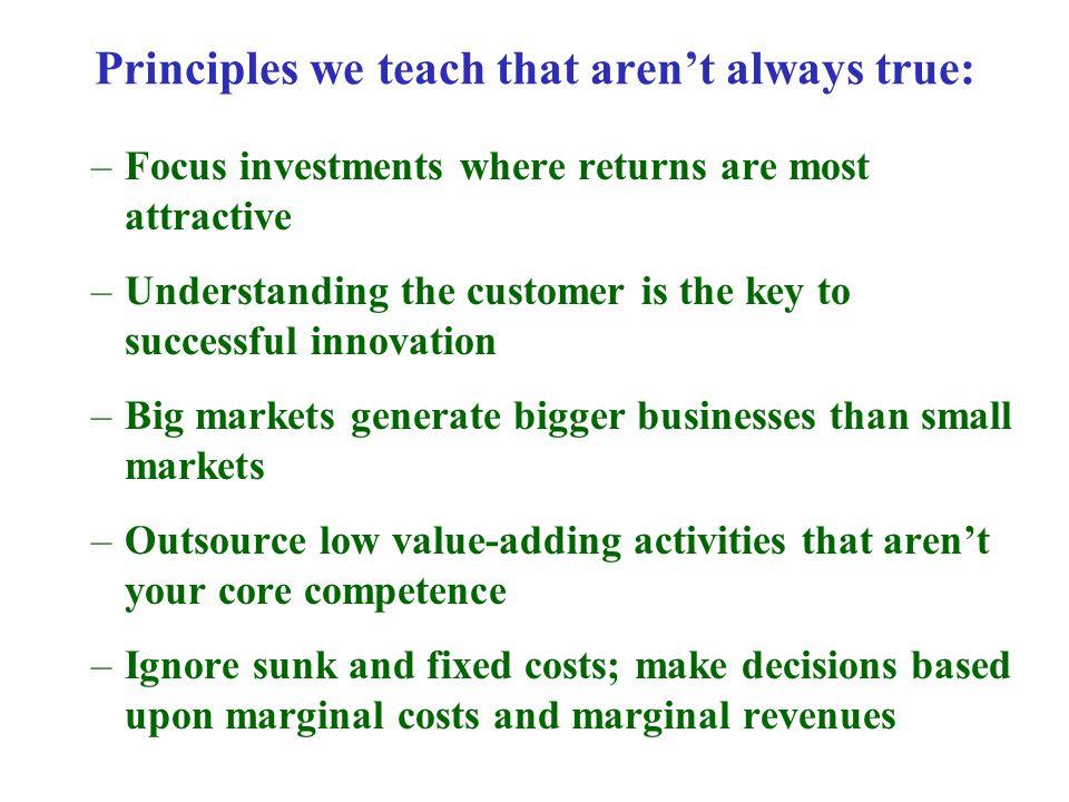 Principles we teach that aren't always true: