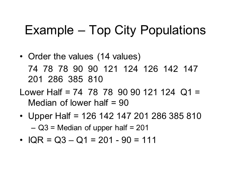 Example – Top City Populations