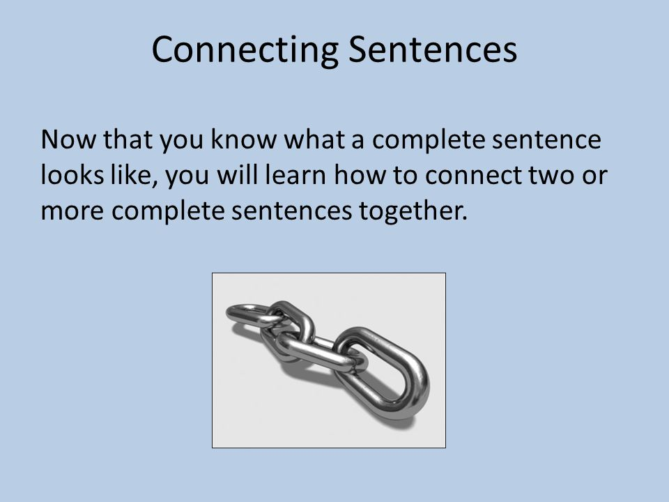 Connecting Sentences