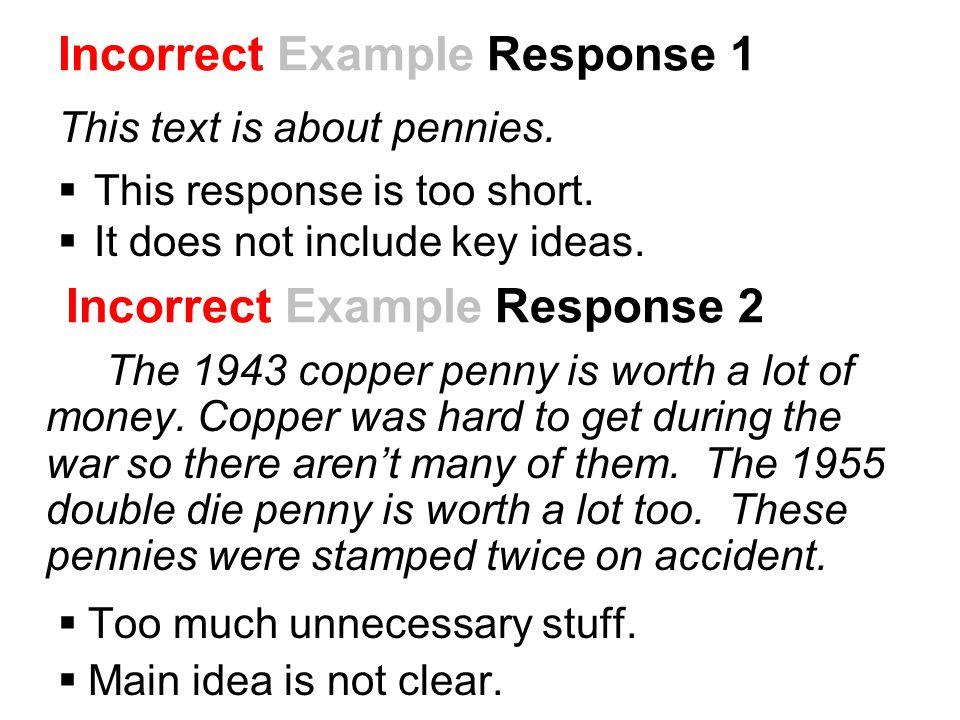 Incorrect Example Response 2