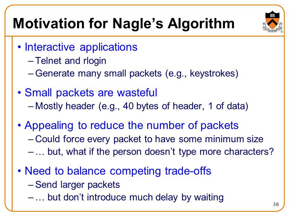 Motivation for Nagle's Algorithm