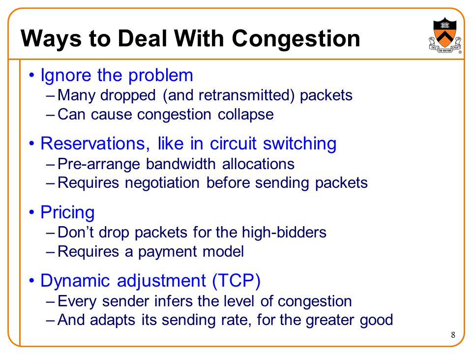 Ways to Deal With Congestion