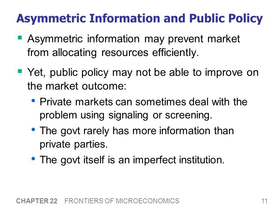 A C T I V E L E A R N I N G 1: Asymmetric information
