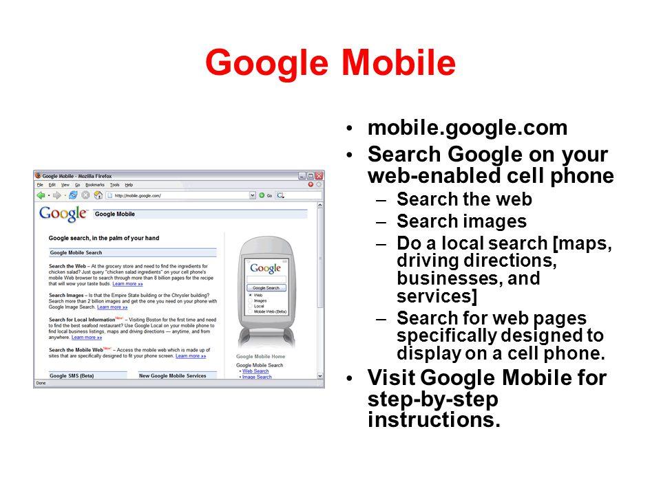 Google Mobile mobile.google.com
