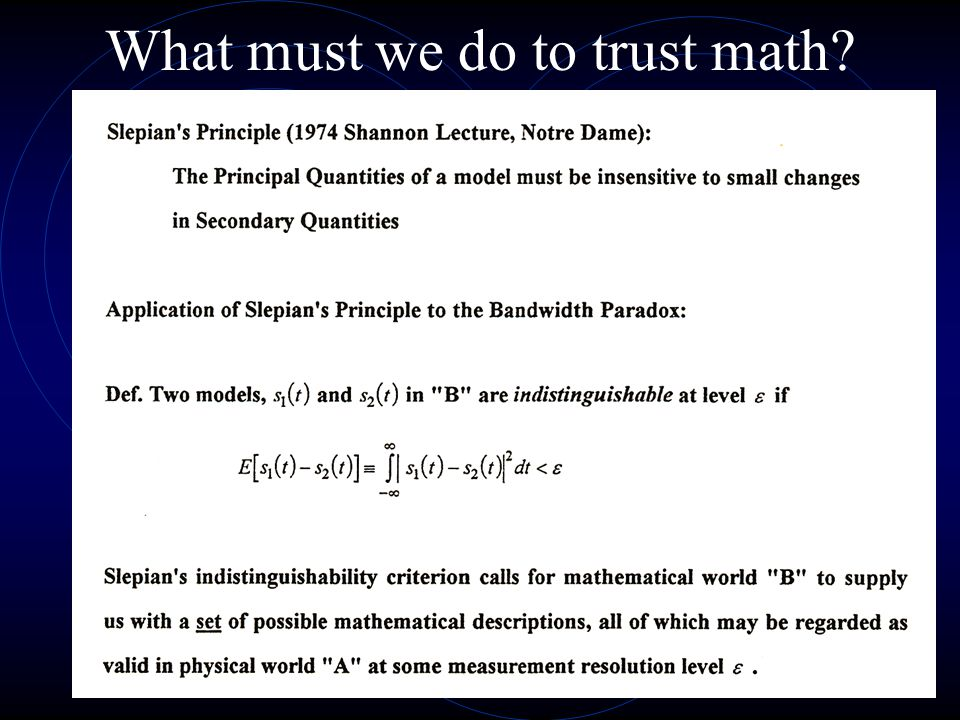 What must we do to trust math