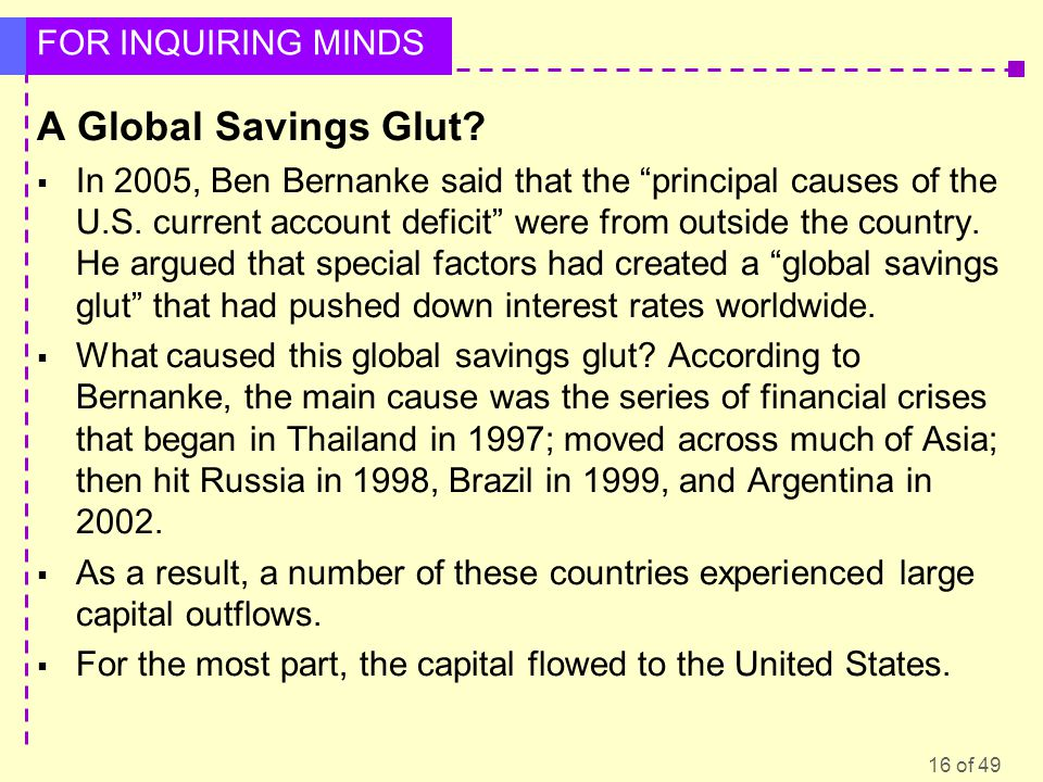 A Global Savings Glut