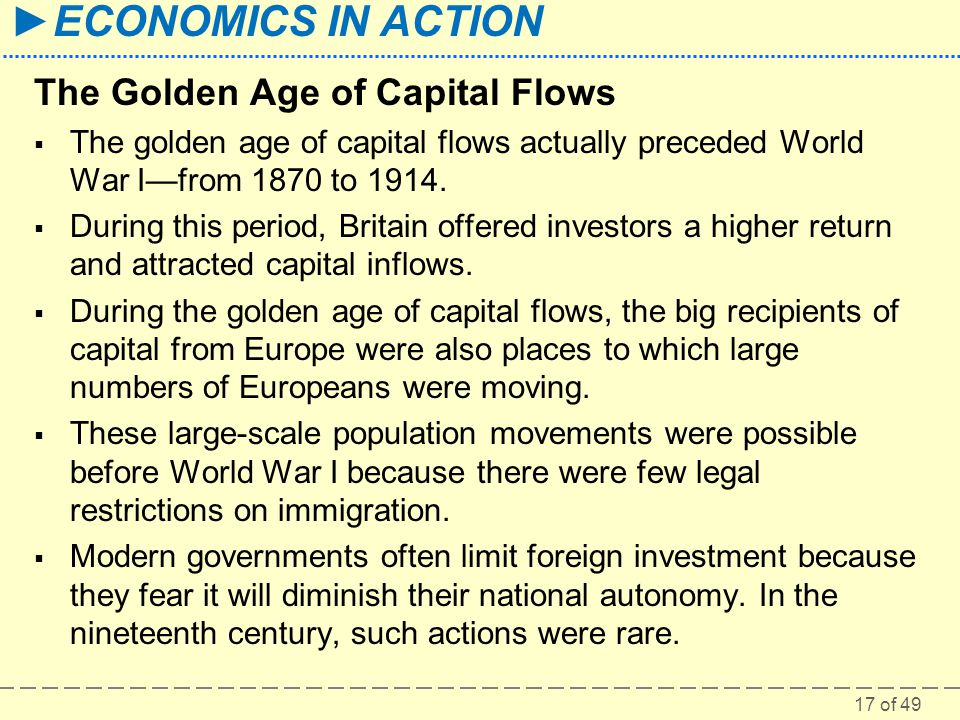 The Golden Age of Capital Flows