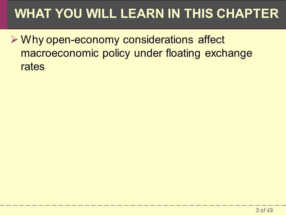 Why open-economy considerations affect macroeconomic policy under floating exchange rates