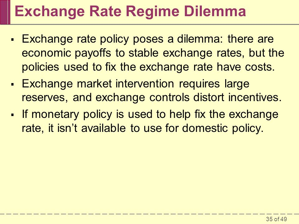 Exchange Rate Regime Dilemma