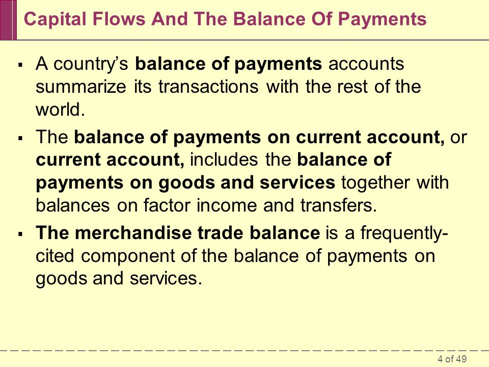 Capital Flows And The Balance Of Payments