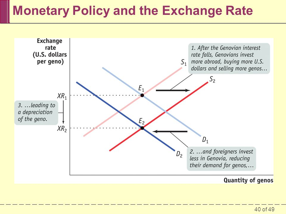 Monetary Policy and the Exchange Rate