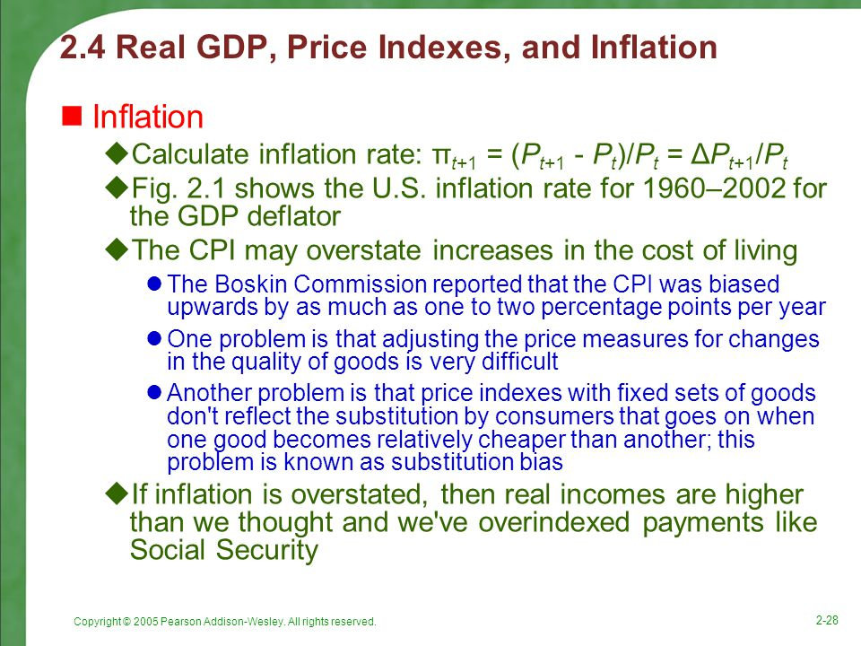 2.4 Real GDP, Price Indexes, and Inflation
