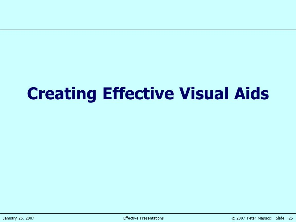 Creating Effective Visual Aids