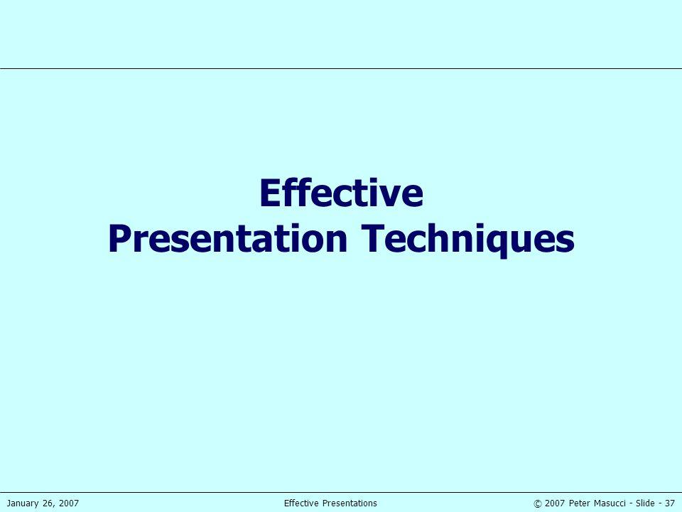 Effective Presentation Techniques