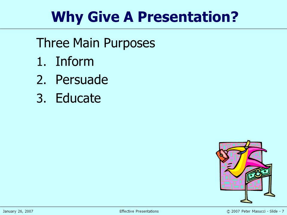Why Give A Presentation