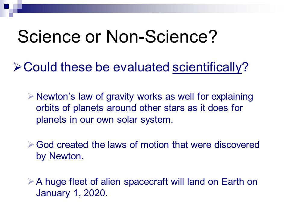 Science or Non-Science