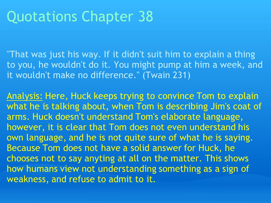 Quotations Chapter 38