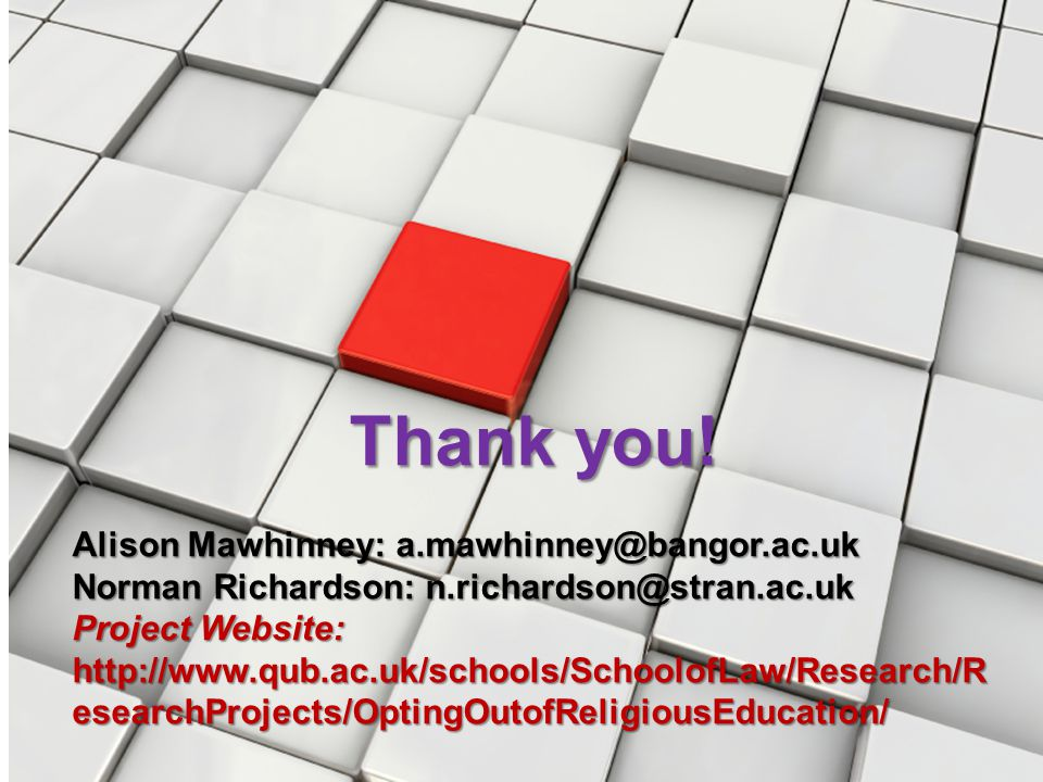 Thank you! Alison Mawhinney: a.mawhinney@bangor.ac.uk
