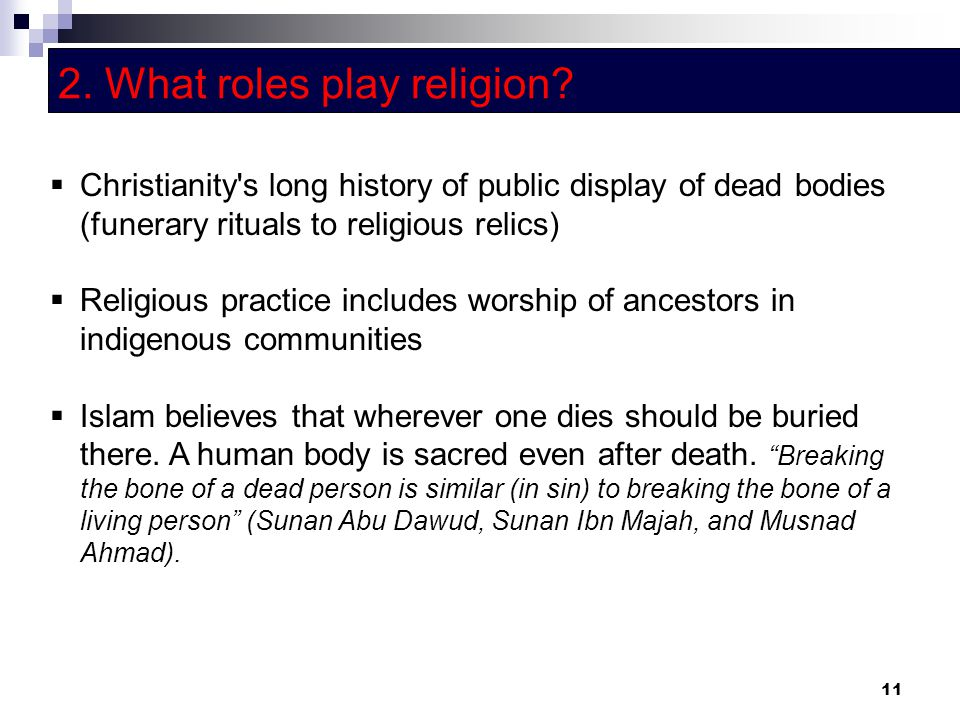 2. What roles play religion