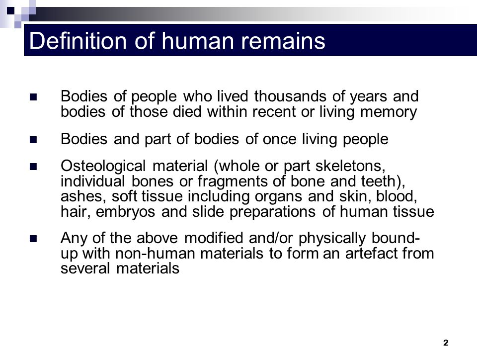 Definition of human remains
