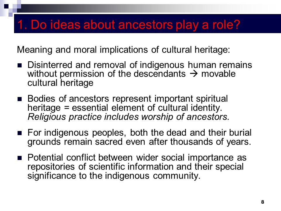 1. Do ideas about ancestors play a role