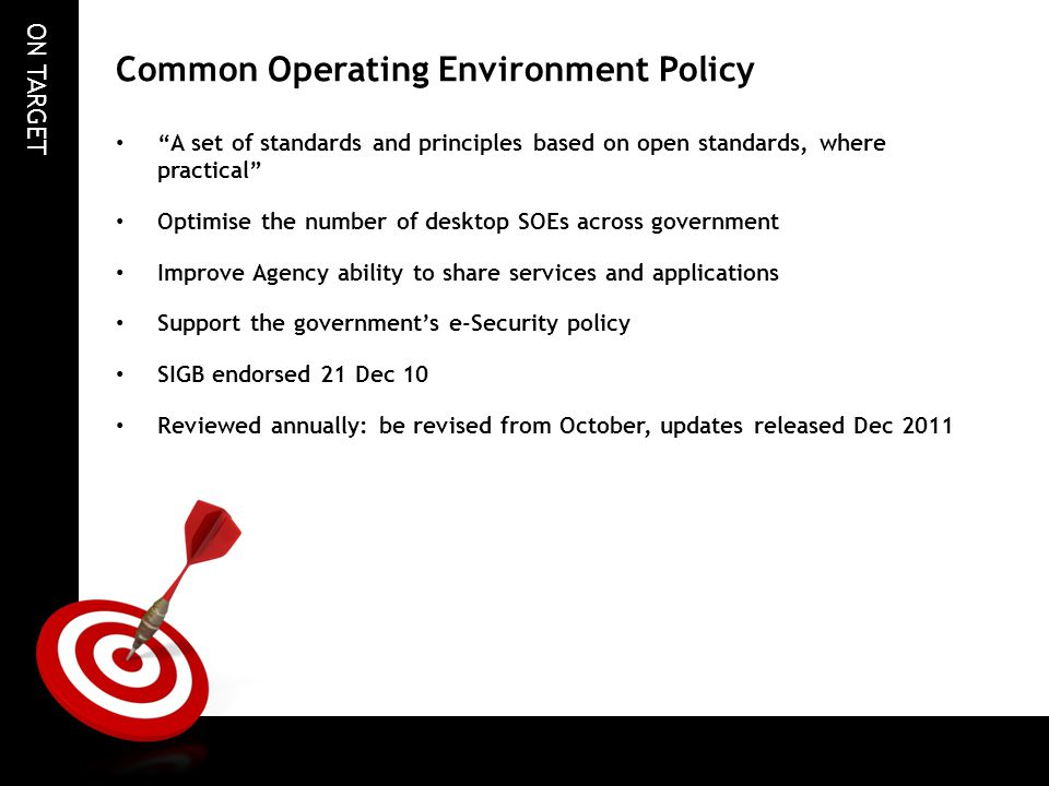 Common Operating Environment Policy