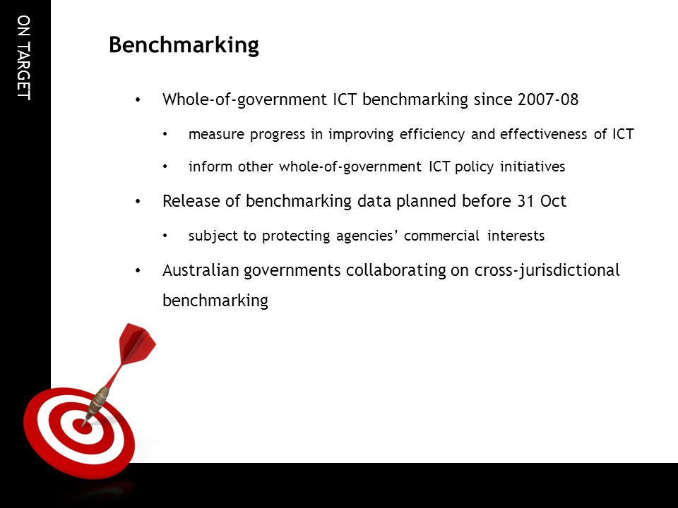 Benchmarking Whole-of-government ICT benchmarking since 2007-08