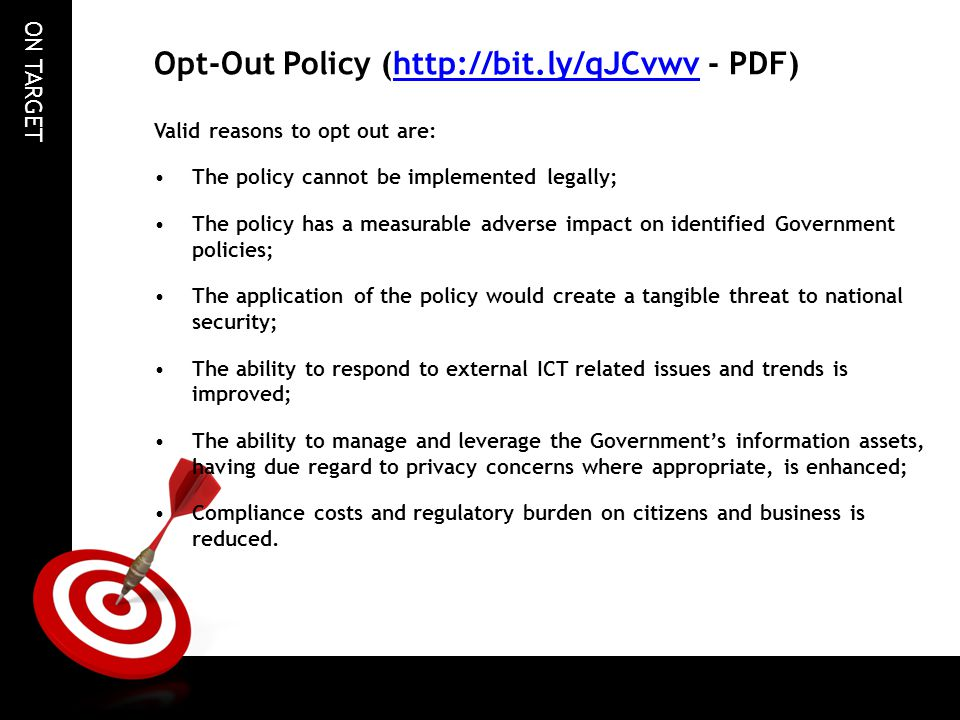 Opt-Out Policy (http://bit.ly/qJCvwv - PDF)