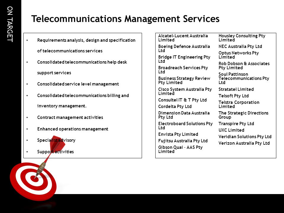 Telecommunications Management Services