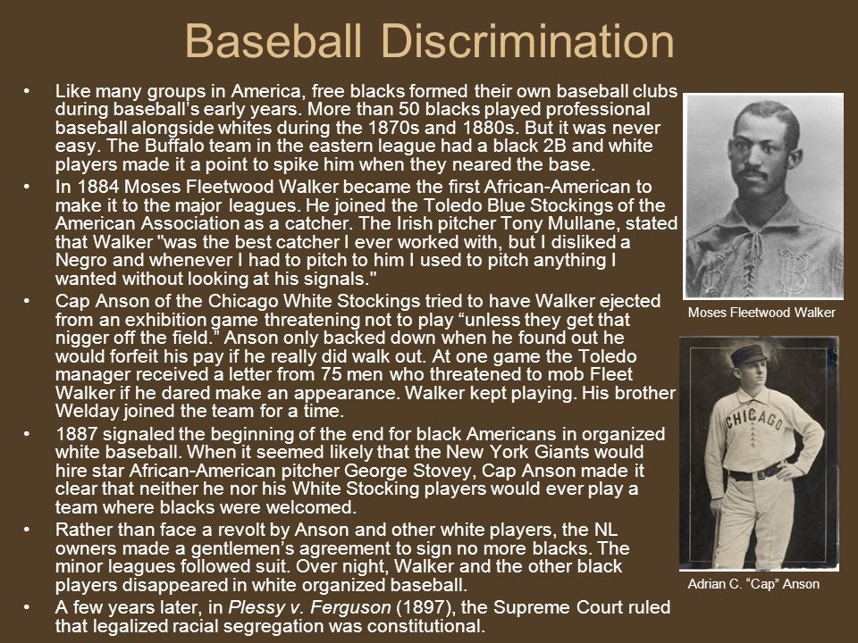 Baseball Discrimination