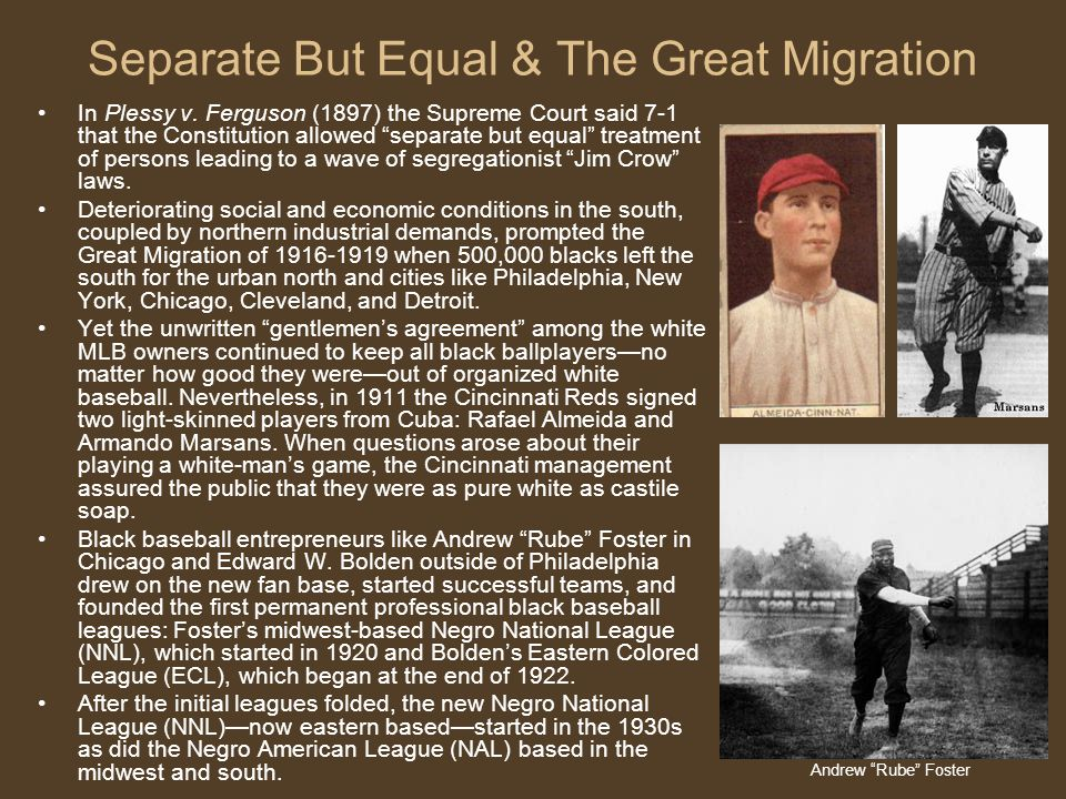 Separate But Equal & The Great Migration