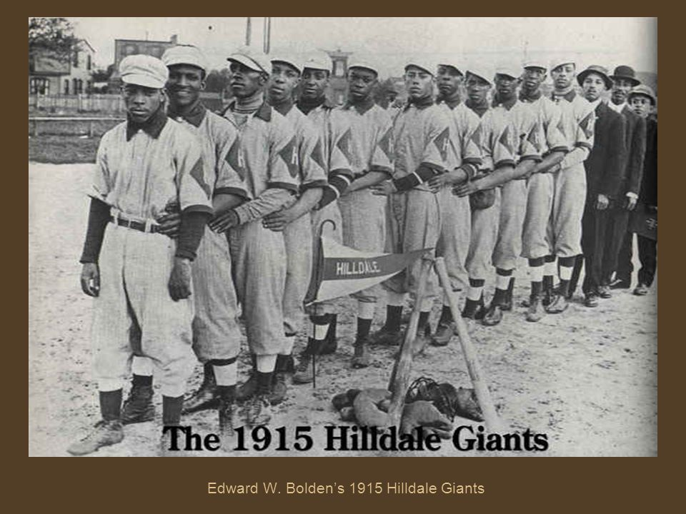 Edward W. Bolden's 1915 Hilldale Giants