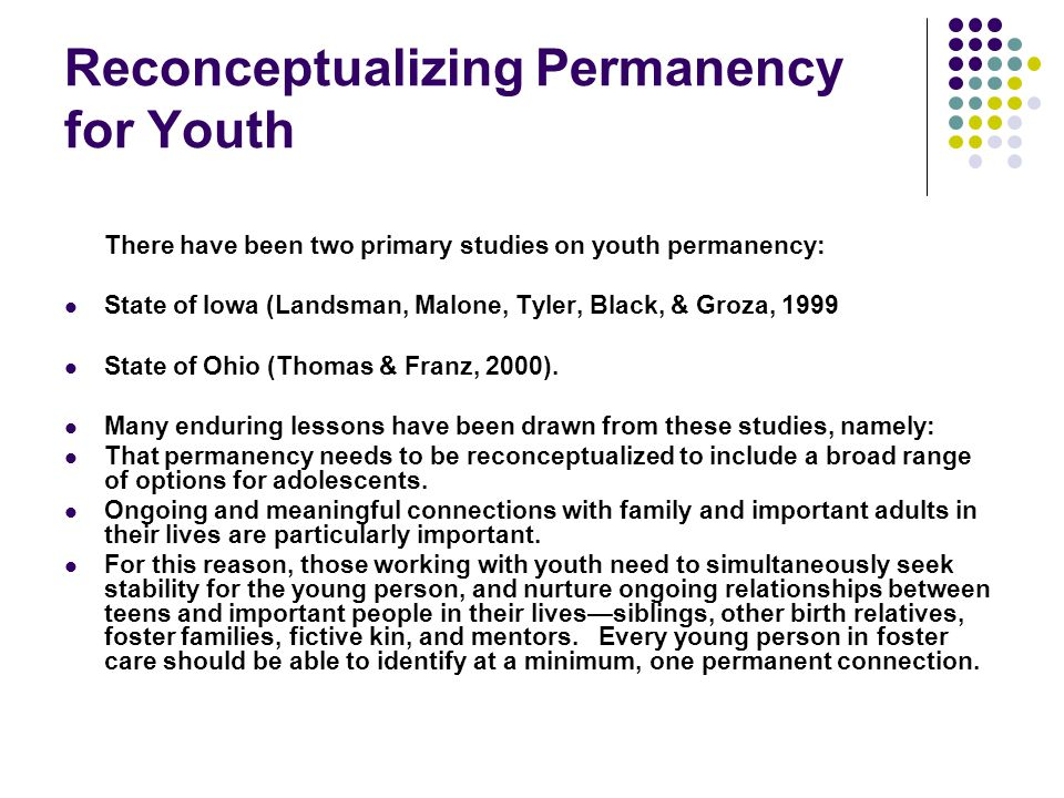 Reconceptualizing Permanency for Youth
